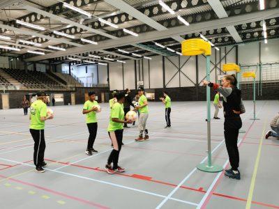 Korfbaltraining speciaal onderwijs in Zappsport