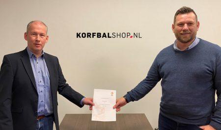 Korfbalshop.nl nieuwe webshop KNKV