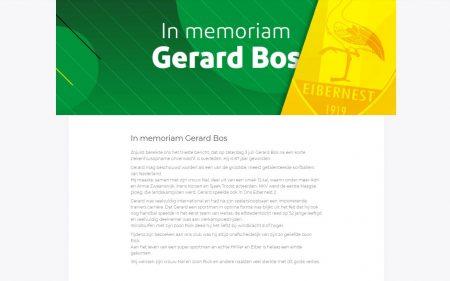 In memoriam: Gerard Bos